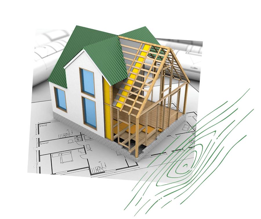 Plan typique de maison en bois contemporaine