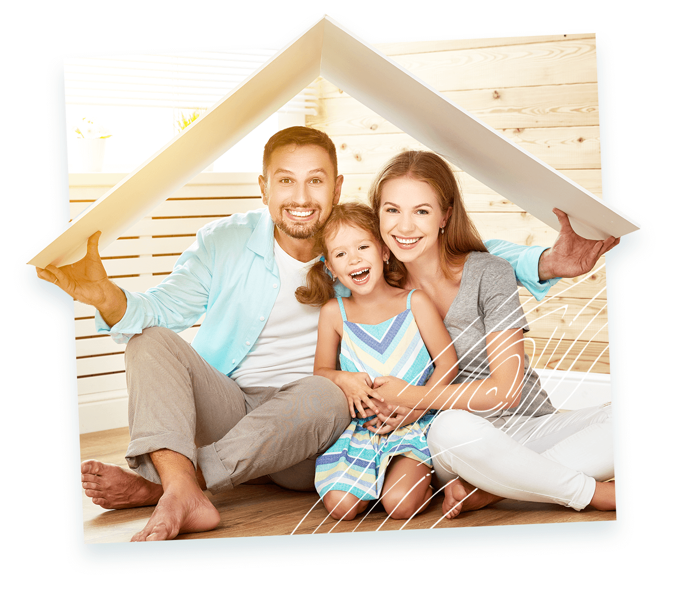 une famille plein sourire qui a trouvé son constructeur de maison en bois